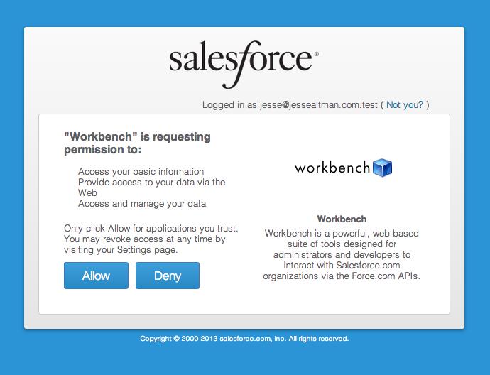 Salesforce com Workbench Overview | Jesse Altman